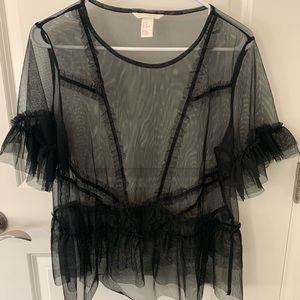 Black sheer top from H&M